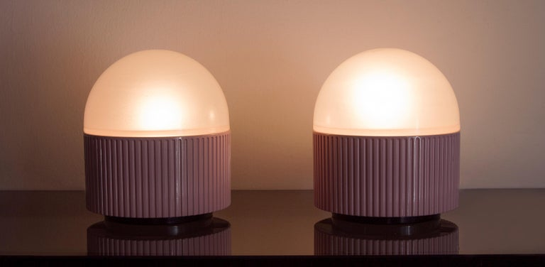 Tronconi Pink Table Lamps, Italy, 1983 Set of 2 For Sale 1
