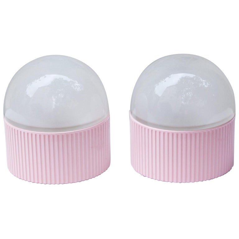 Tronconi Pink Table Lamps, Italy, 1983 Set of 2 For Sale