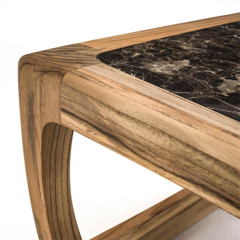 Trooper Coffee Table in Solid Teak With Marble Top Outddor ...