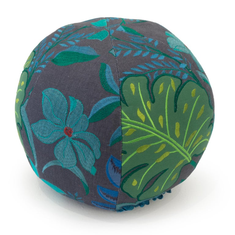 American Tropical Embroidery Ball Pillow For Sale