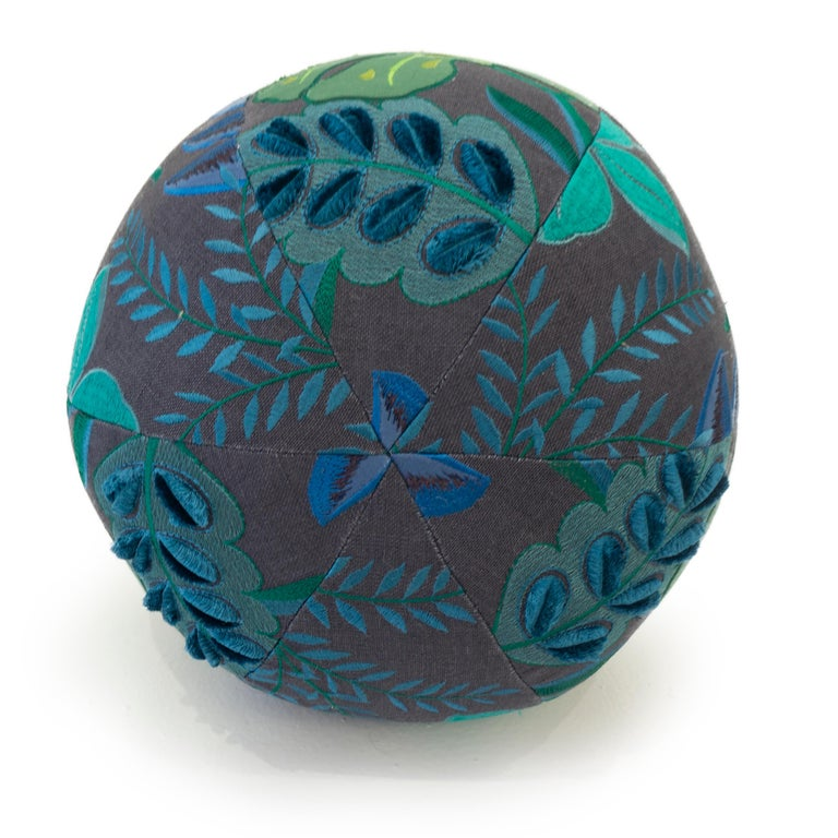 Embroidered Tropical Embroidery Ball Pillow For Sale