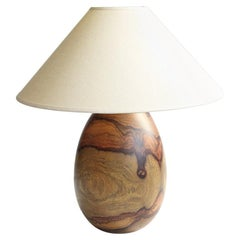 Tropical Hardwood Lamp and White Linen Shade, Medium, Árbol Collection, 44