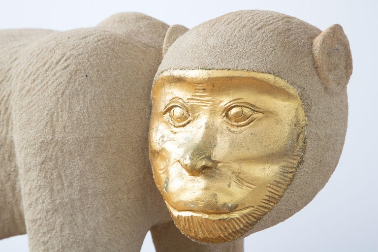Tropical Life-Size Monkey Sculpture, USA, 1980 For Sale 3