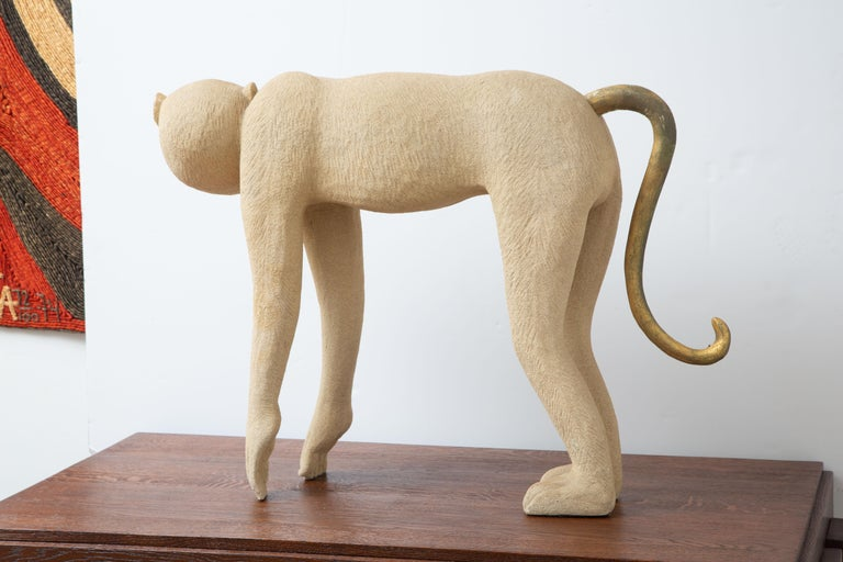 Organic Modern Tropical Life-Size Monkey Sculpture, USA, 1980 For Sale