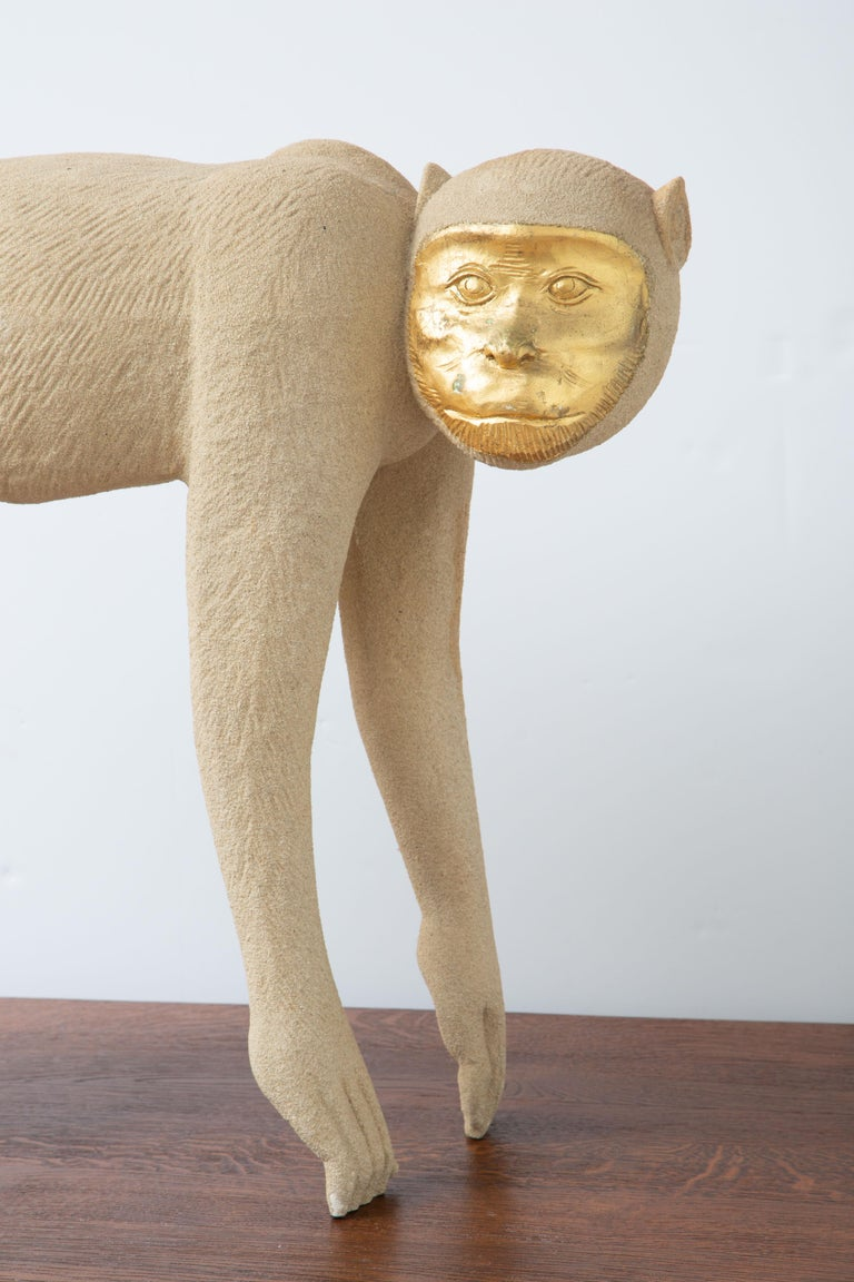 Tropical Life-Size Monkey Sculpture, USA, 1980 For Sale 1