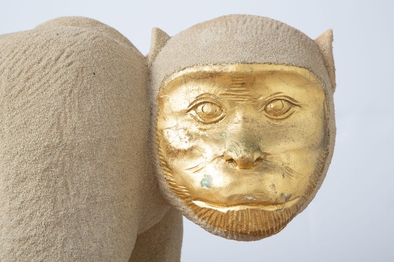 Tropical Life-Size Monkey Sculpture, USA, 1980 For Sale 2