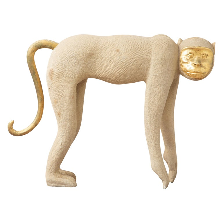 Tropical Life-Size Monkey Sculpture, USA, 1980 For Sale