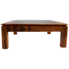 Tropical Mahogany Coffee Table Slate and Pegged