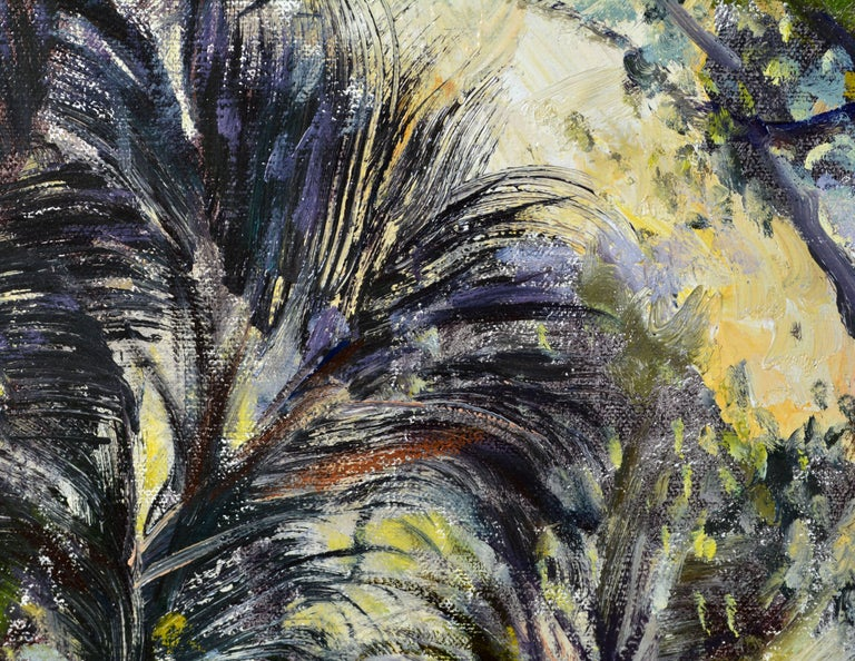 'Tropical Naples View' Original Largew Florida Oil Painting by Robert C. Gruppe 2