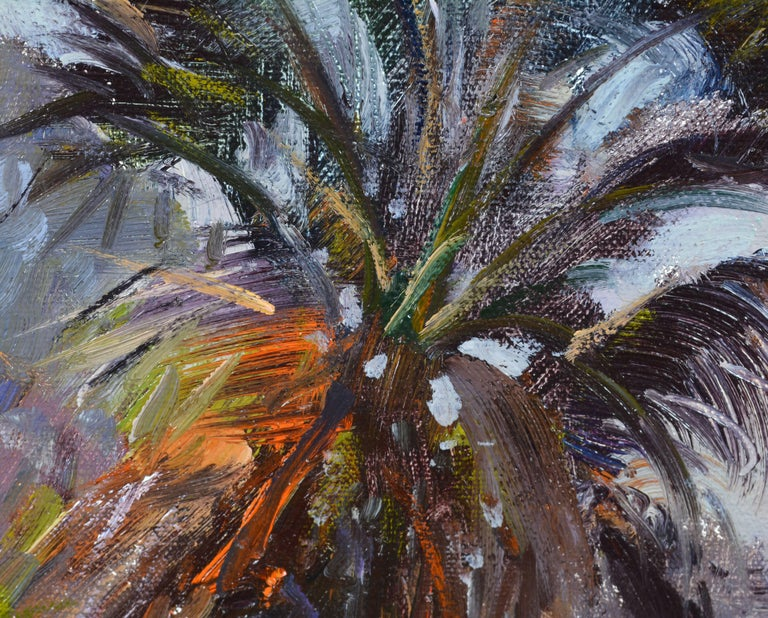 Gilt 'Tropical Naples View' Original Largew Florida Oil Painting by Robert C. Gruppe