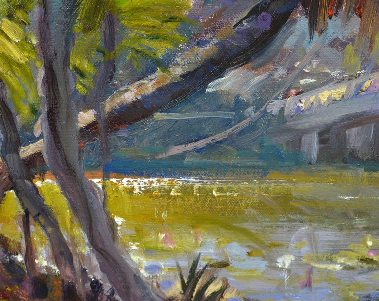 Contemporary 'Tropical Naples View' Original Largew Florida Oil Painting by Robert C. Gruppe