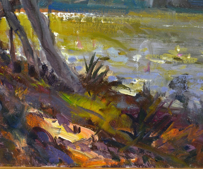 Canvas 'Tropical Naples View' Original Largew Florida Oil Painting by Robert C. Gruppe