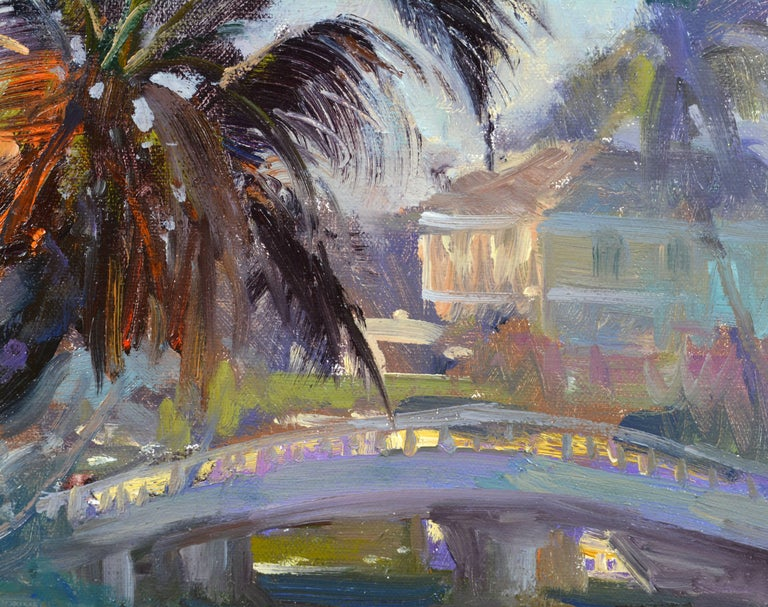 'Tropical Naples View' Original Largew Florida Oil Painting by Robert C. Gruppe 1