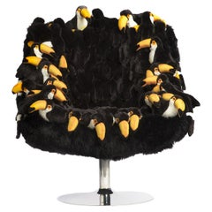 Tropical Toucanos Armchair Swivel in Limited Edition