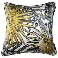 Tropics Collection 'Palm' Luxury Silk Cushion