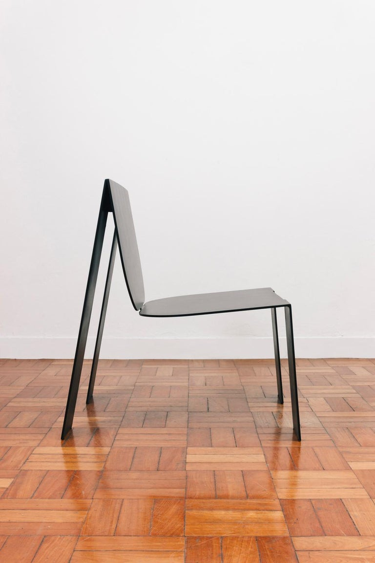 Painted Tropos Armchair, CONTEMPORARY METAL SHEET  ARMCHAIR For Sale