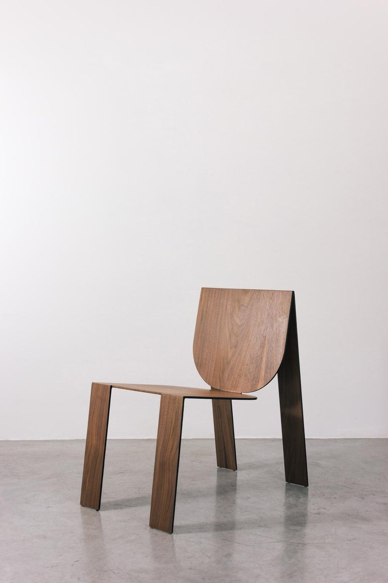 Tropos Chair, CONTEMPORARY WOOD SHEET AND METAL CHAIR For Sale 5