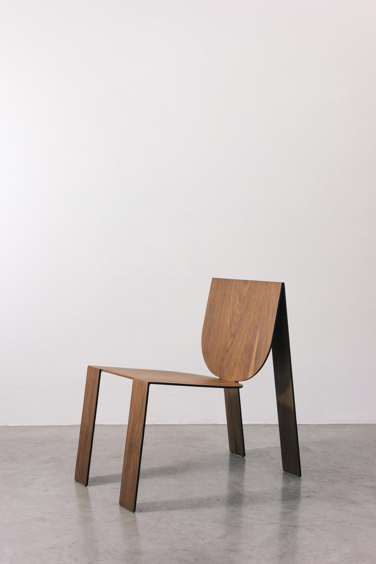 Tropos Chair, CONTEMPORARY WOOD SHEET AND METAL CHAIR For Sale 6