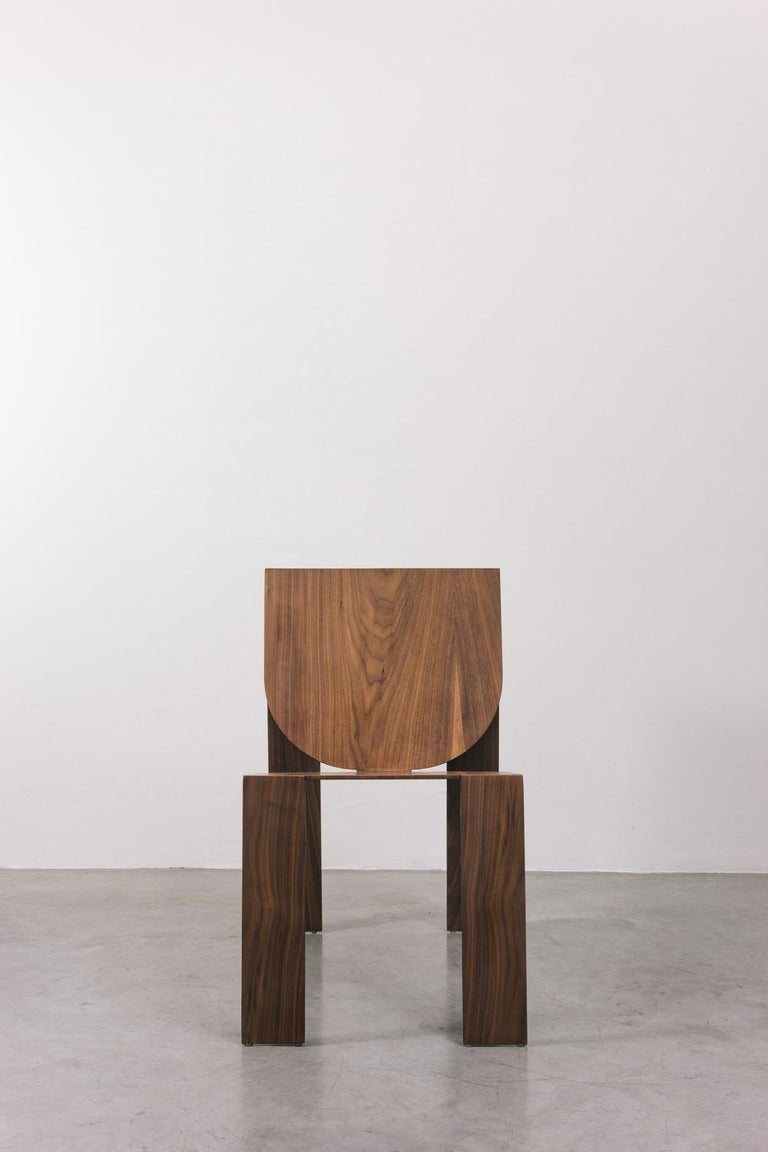 Brazilian Tropos Chair, CONTEMPORARY WOOD SHEET AND METAL CHAIR For Sale