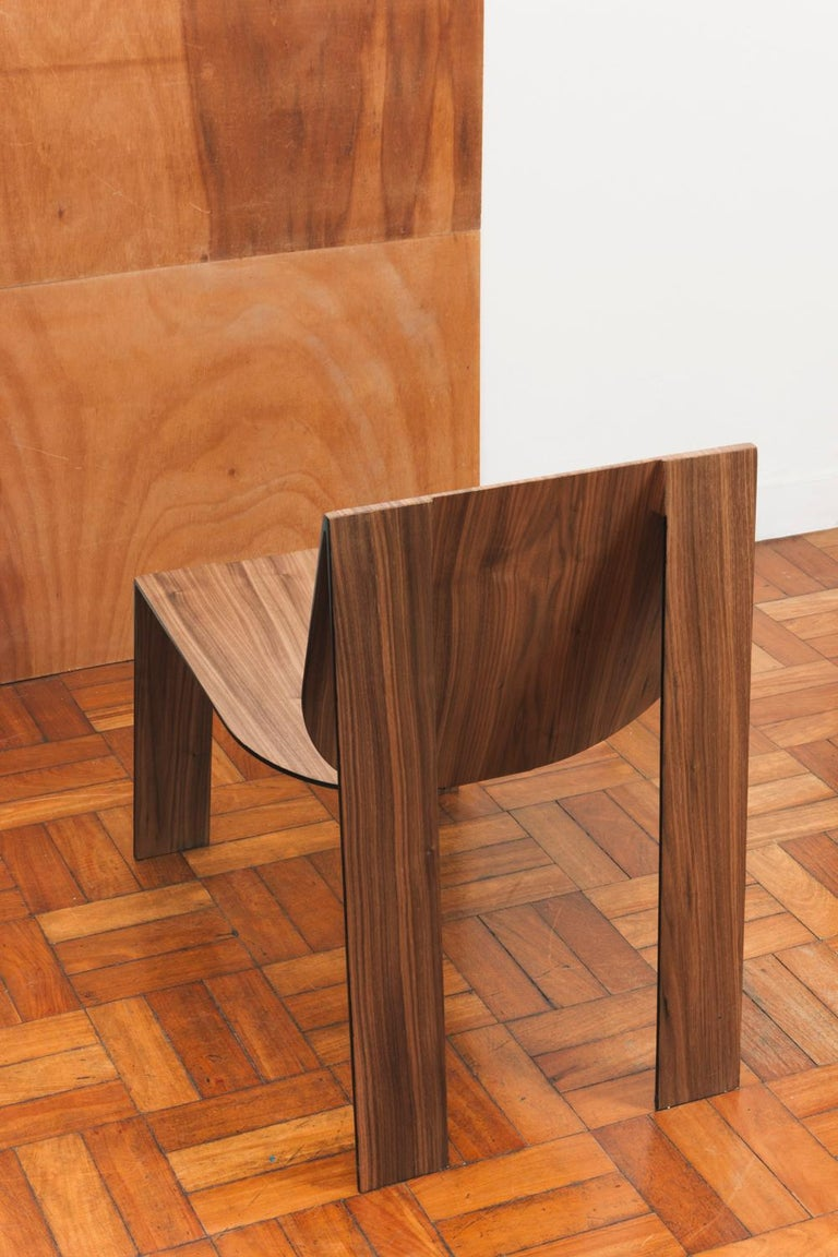 Tropos Chair, CONTEMPORARY WOOD SHEET AND METAL CHAIR For Sale 2
