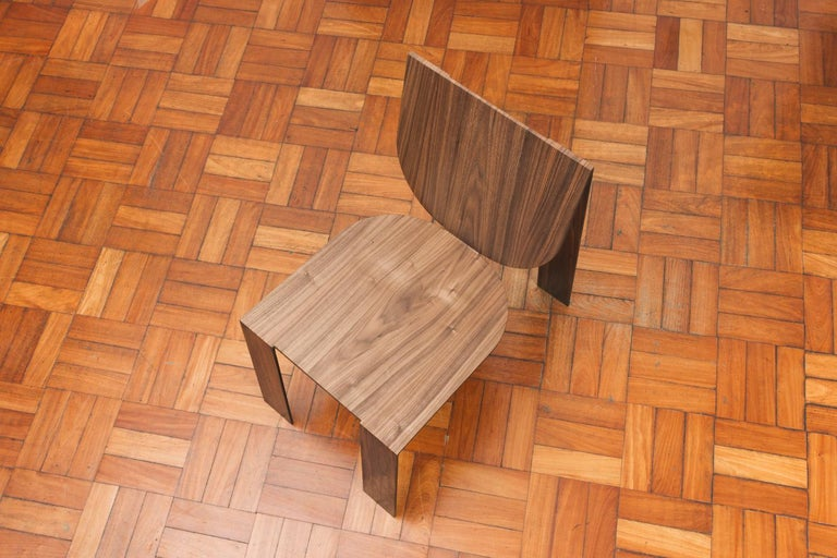 Tropos Chair, CONTEMPORARY WOOD SHEET AND METAL CHAIR For Sale 3