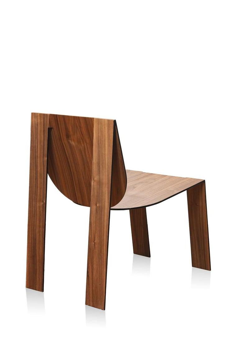 Sheet Metal Tropos Chair, CONTEMPORARY WOOD SHEET AND METAL CHAIR For Sale