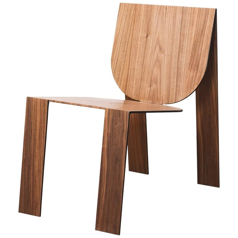 Tropos Chair, CONTEMPORARY WOOD SHEET AND METAL CHAIR For Sale
