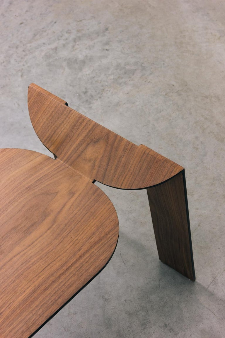 Contemporary Tropos Stool, CONTEMPORARY WOOD SHEET AND METAL STOOL For Sale