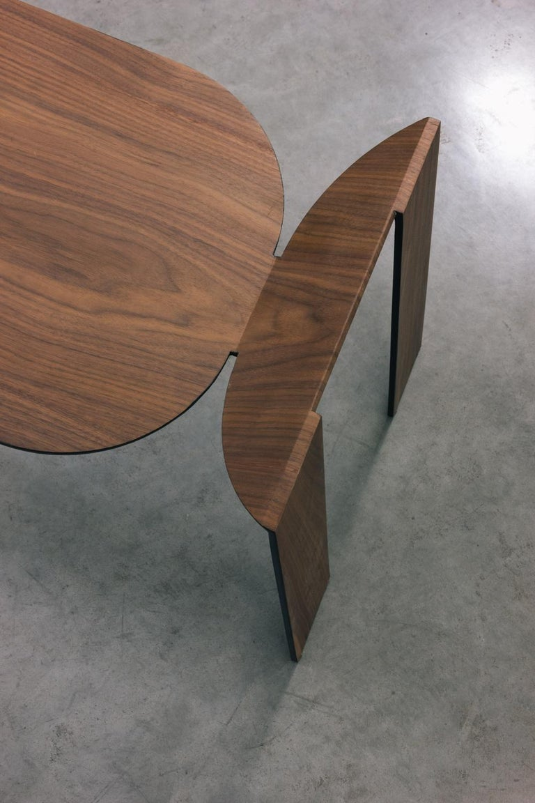 Sheet Metal Tropos Stool, CONTEMPORARY WOOD SHEET AND METAL STOOL For Sale