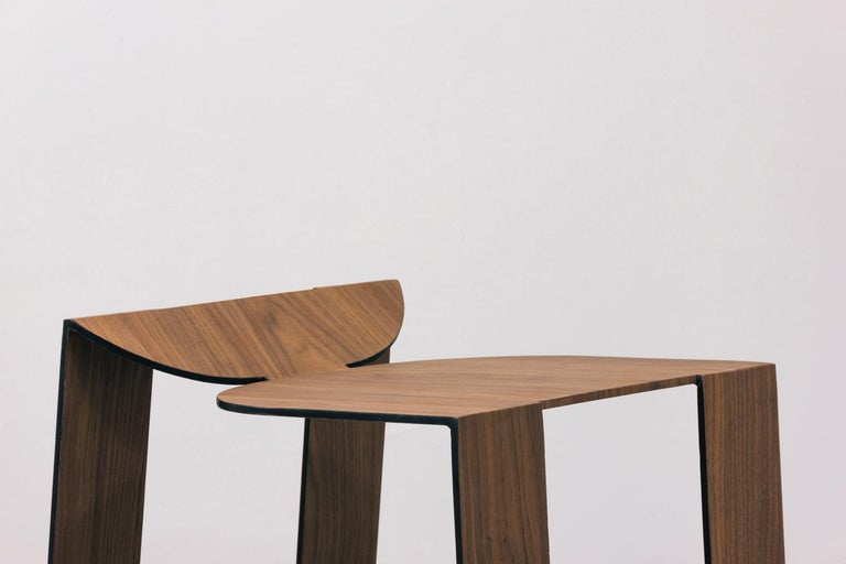 Tropos Stool, CONTEMPORARY WOOD SHEET AND METAL STOOL For Sale 7