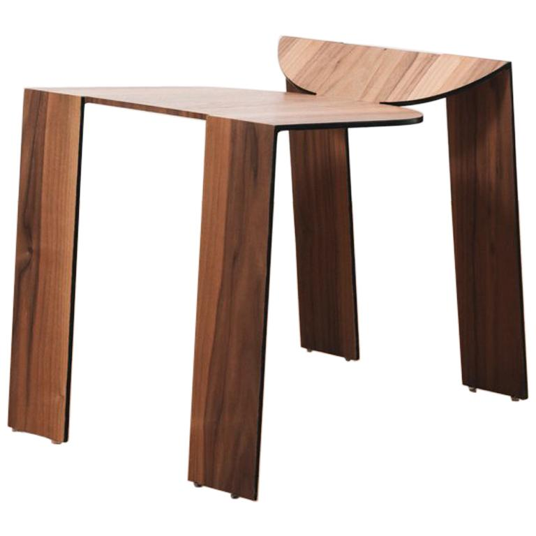 Tropos Stool, CONTEMPORARY WOOD SHEET AND METAL STOOL For Sale