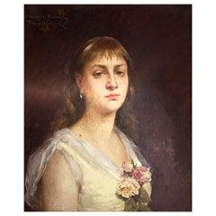 """Trouillebert Paul Désiré (1829-1900) """"Portrait of Miss Marie Baudet"""""""