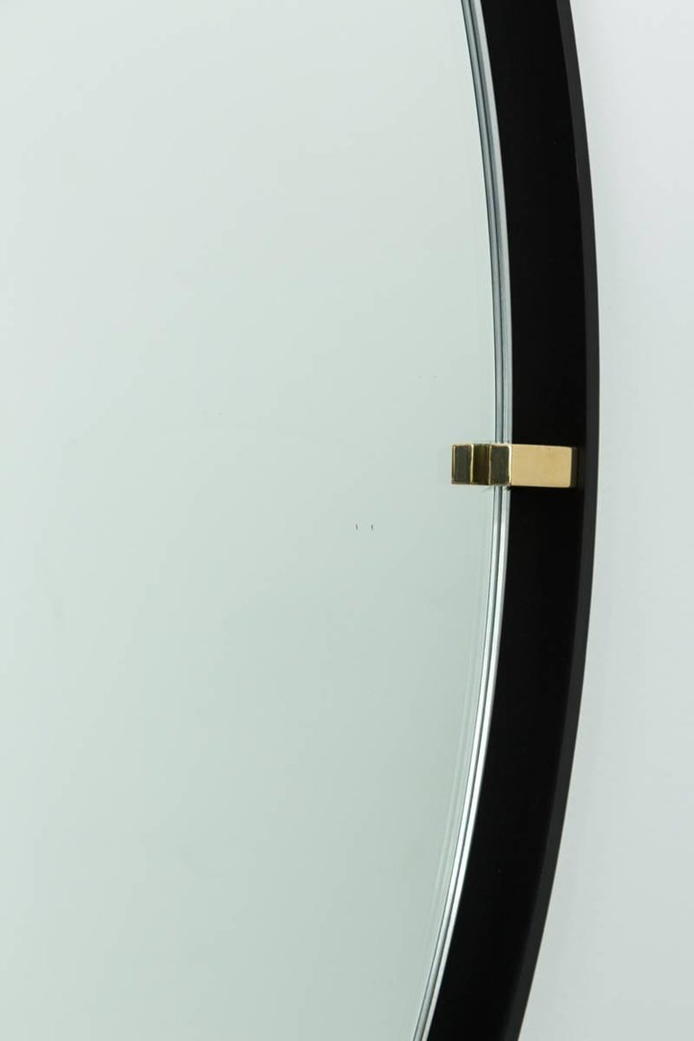 Contemporary Trousdale Circular Floating Mirror by Orange Los Angeles - 36