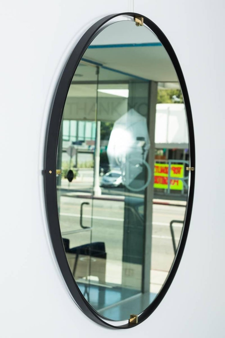 Iron Trousdale Circular Floating Mirror by Orange Los Angeles - 36