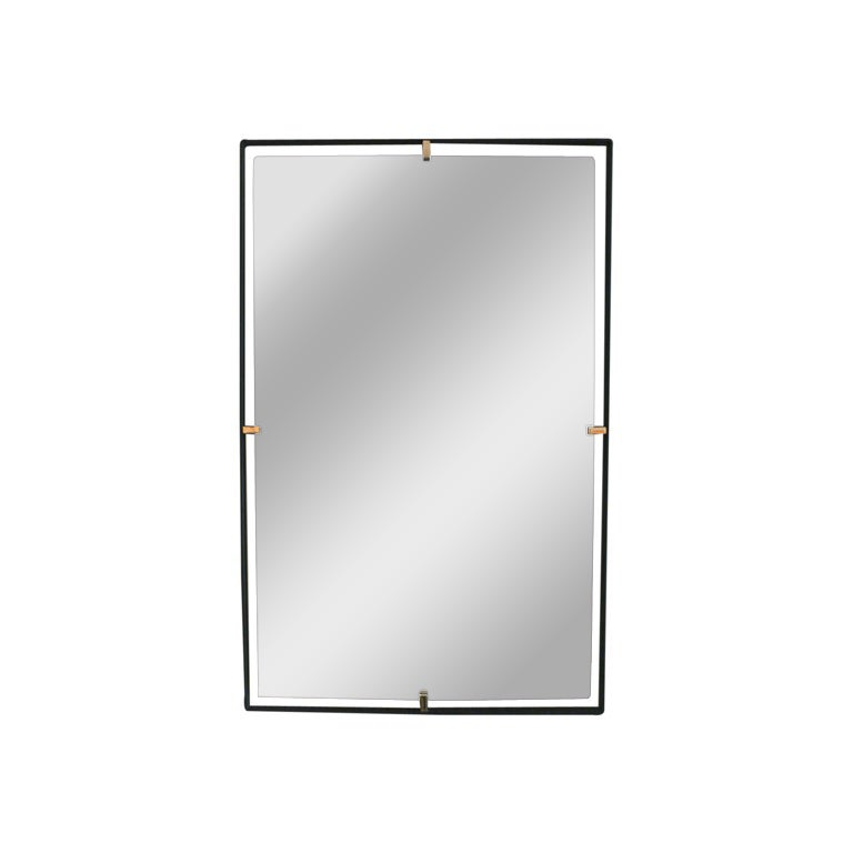 Brass Trousdale Rectangular Mirror For Sale