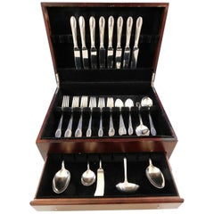Trousseau by International Sterling Silver Flatware Set for 8 Service 45 Pieces