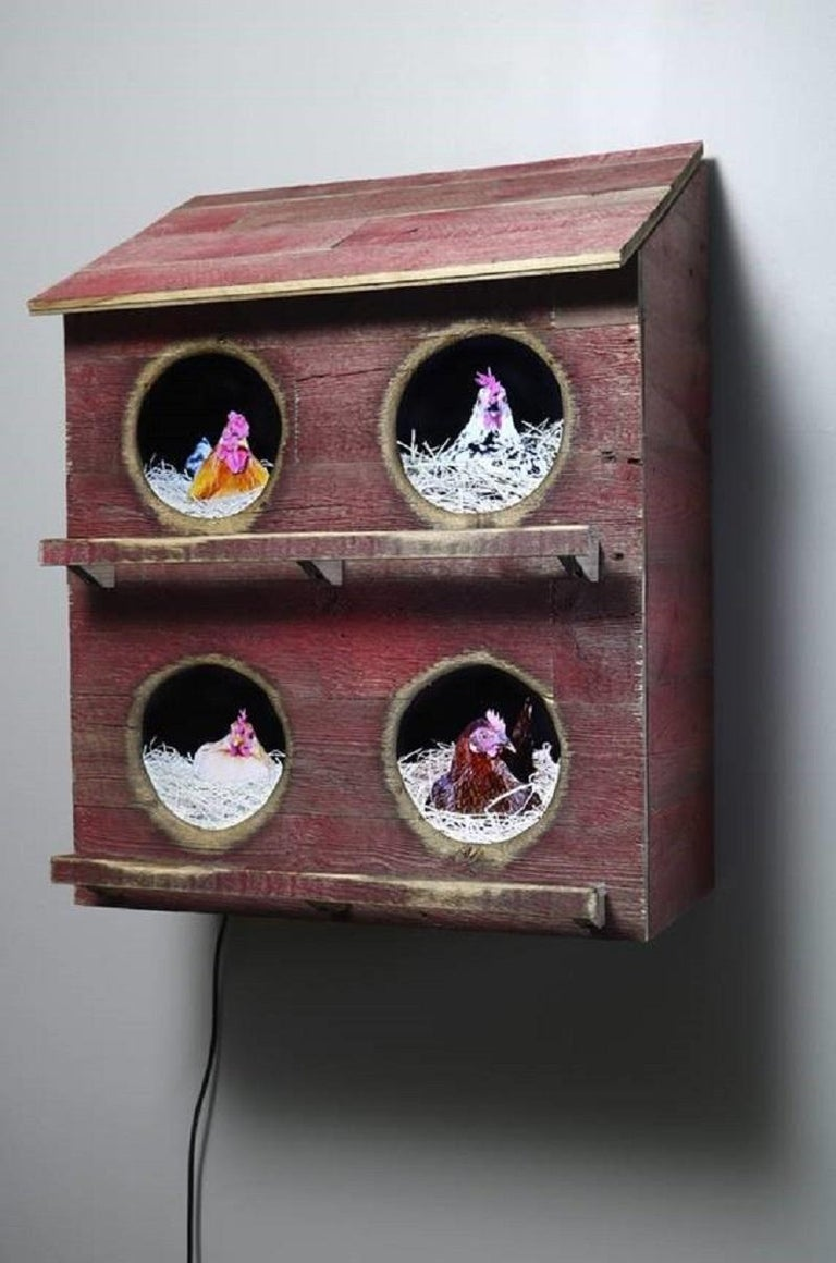 Four City Chicks in Red - Mixed Media Art by Troy Abbott