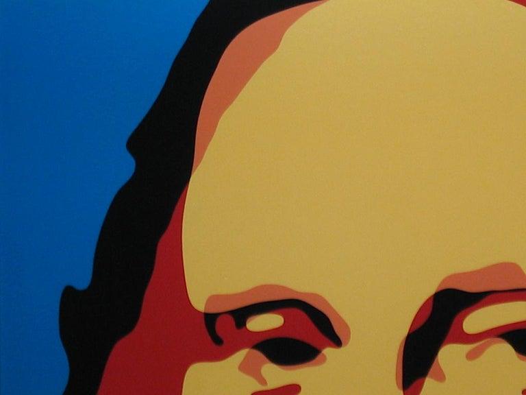 Made in Heaven (US Dollar Bill + Mona Lisa) - Black Portrait Print by Troy Gua
