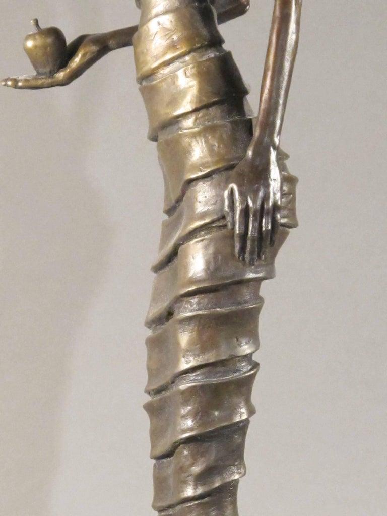 First Bite,female figure holding apple,garden of eden,bronze sculpture Williams For Sale 7