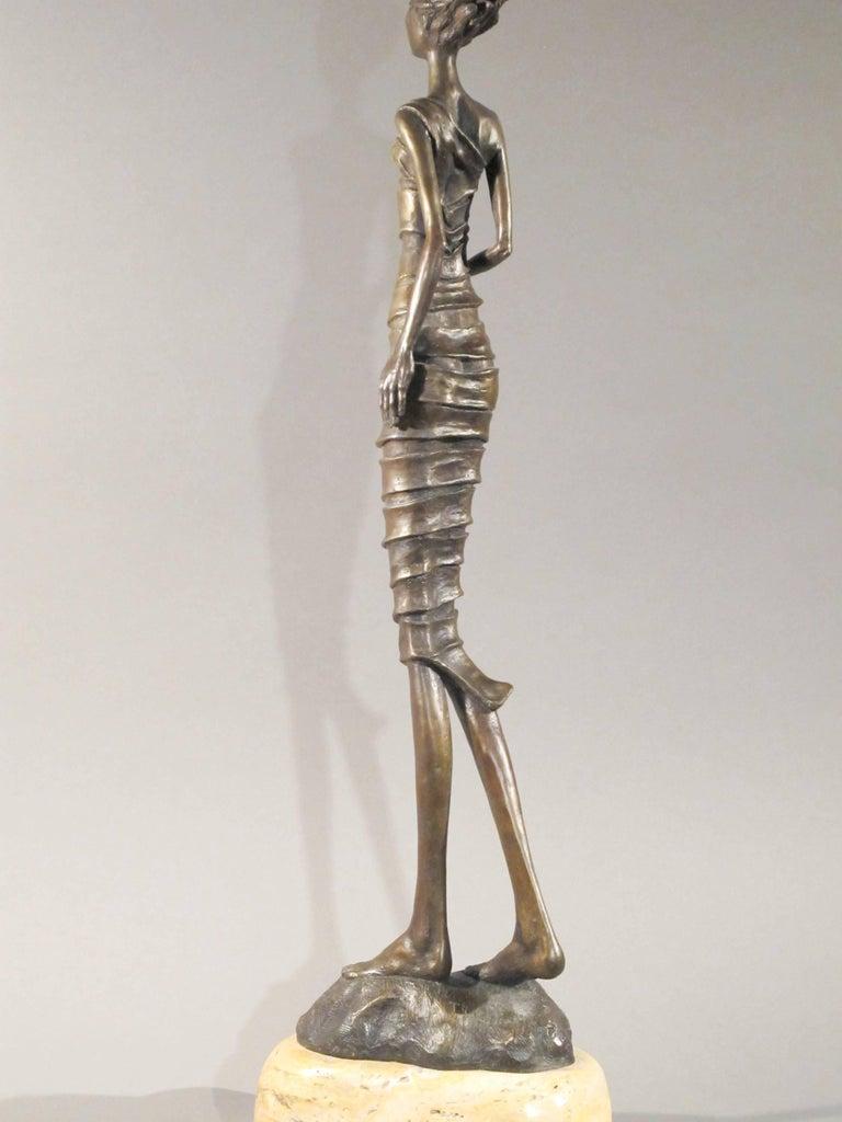 First Bite,female figure holding apple,garden of eden,bronze sculpture Williams For Sale 4