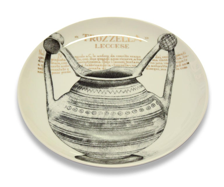 Italian Trozzella Plate for Martini & Rossi, by P. Fornasetti, 1960s For Sale