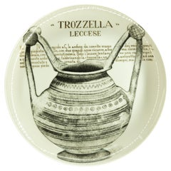 Trozzella Plate for Martini & Rossi, by P. Fornasetti, 1960s