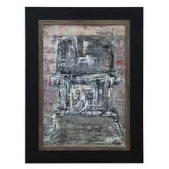 Untitled Black and White Texas Abstract Expressionist Painting