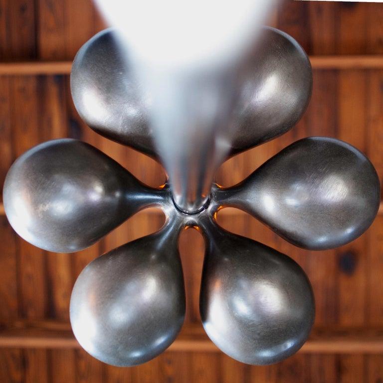 American Truffula Floor Lamp, Cast and Burnished Aluminum, Small, Jordan Mozer, USA, 2012 For Sale