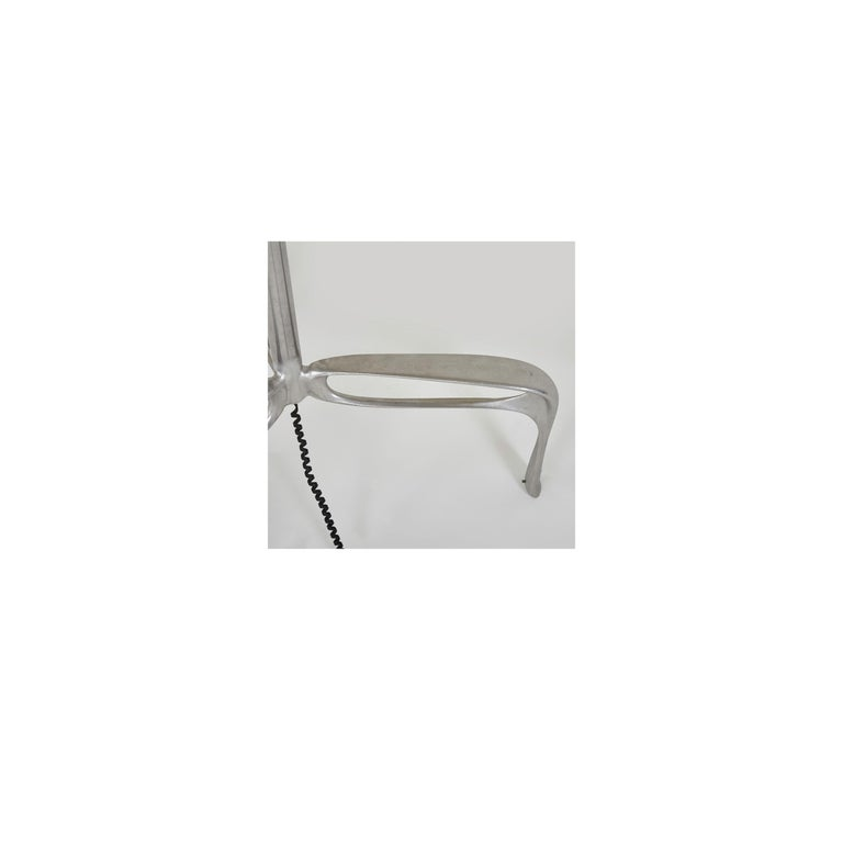 Patinated Truffula Floor Lamp, Cast and Burnished Aluminum, Small, Jordan Mozer, USA, 2012 For Sale