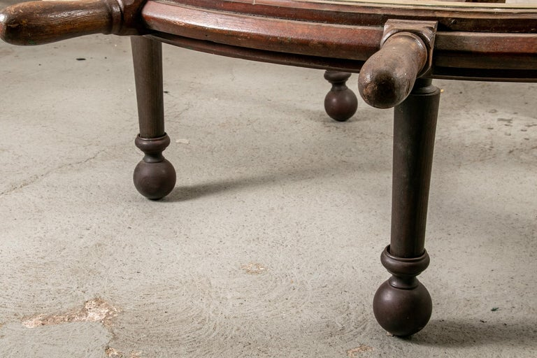 Rustic Truly Massive Antique Ship's Wheel Table For Sale
