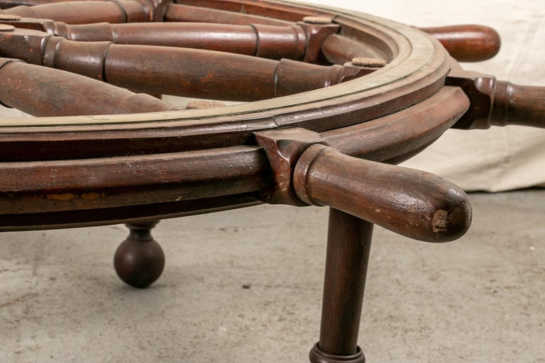 Unknown Truly Massive Antique Ship's Wheel Table For Sale