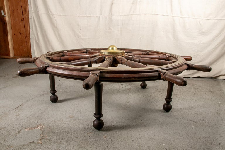 Truly Massive Antique Ship's Wheel Table For Sale 1