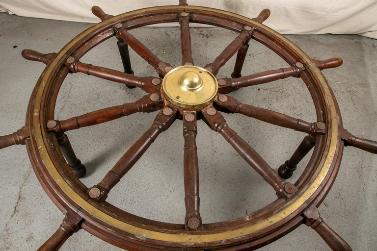 Truly Massive Antique Ship's Wheel Table For Sale 2