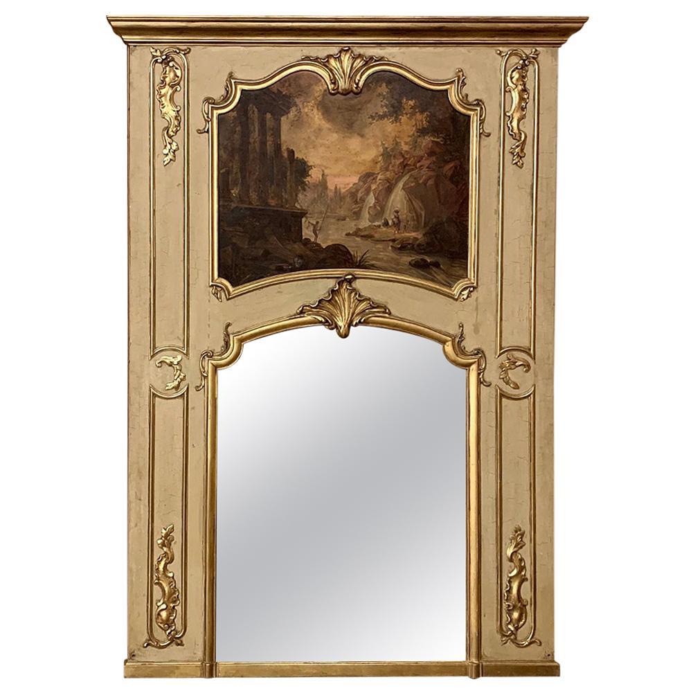 Trumeau, 19th Century French Louis XV Painted and Gilded